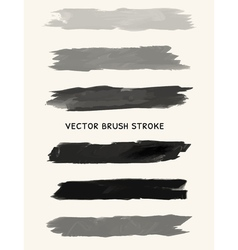 Black watercolor brush strokes vector image