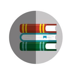 Books school supply icon vector