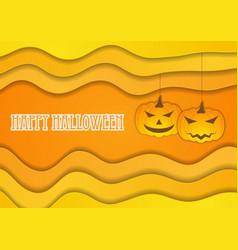 Bright orange autumn halloween background vector