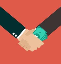 Business corruption handshake vector