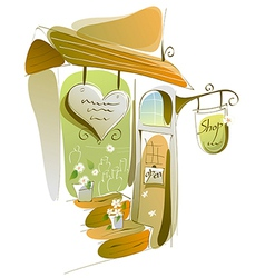 Close-up of shop vector image vector image