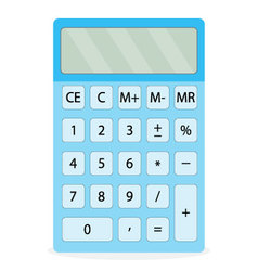 Device calculator isolated vector image vector image