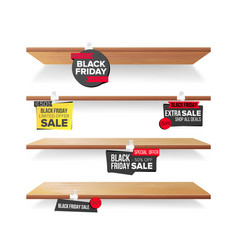 empty shelves black friday sale advertising vector image vector image