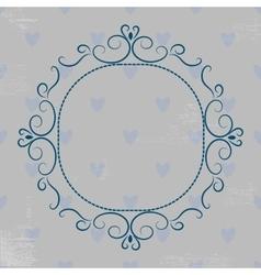 Grey vintage monogram vector image vector image