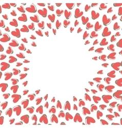 Heart shape frame vector