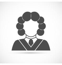 Judge avatar icon vector