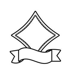 label ribbon decoration template outline vector image