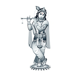 Lord krishna vector