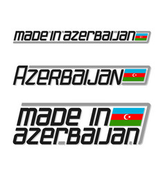 made in azerbaijan vector image
