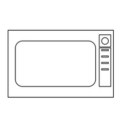 Microwave oven the black color icon vector