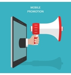 Mobile promotion flat isometric concept vector