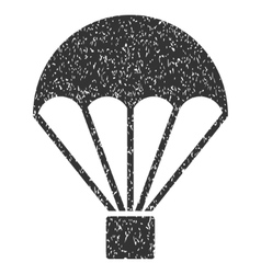 Parachute grainy texture icon vector