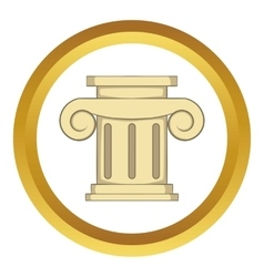 Roman column icon vector