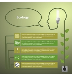 Template infographic concept of renewable energy vector