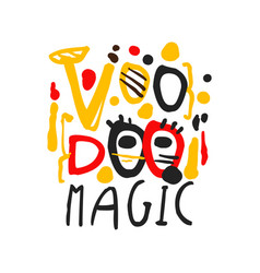 Voodoo african and american magic logo text vector
