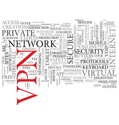 Vpn word cloud concept vector