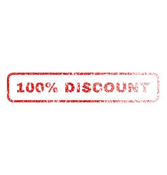 100 percent discount rubber stamp vector
