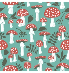Poisonus mushrooms doodle style wallpaper vector