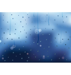 Rain drops and drips on a window pain vector