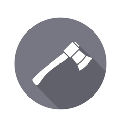 Tool icon axe hache instrument work job vector