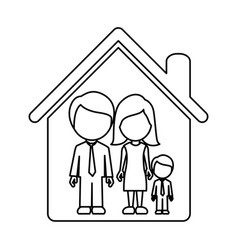 figure family together icon vector image