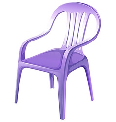 A purple plastic chair vector