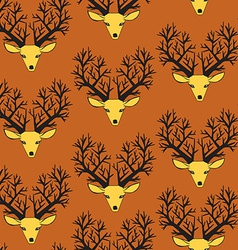 Cute seamless pattern with deers vector