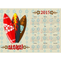 aloha kalendar 15 vector image