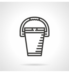 Bucket black line icon vector