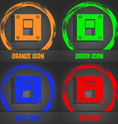 Power switch icon sign fashionable modern style in vector