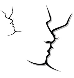Couple kissing vector