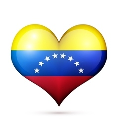 Venezuela heart flag icon vector