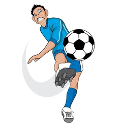 Angry soccer player vector