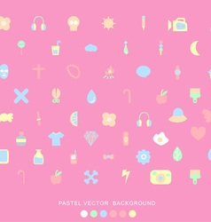Pastel icons background vector