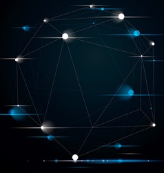 Abstract 3d structure polygonal network shine vector