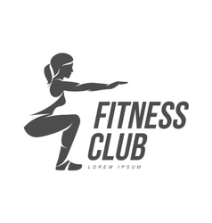 Aerobic workout logo vector
