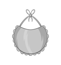 Bib icon black monochrome style vector image vector image
