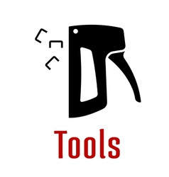 Black silhouette of staple gun tool vector image