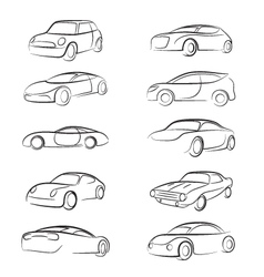 Car Line Brush vector image
