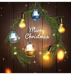 Christmas tree garland vector image vector image