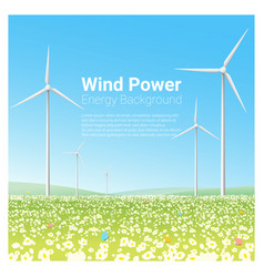 Energy concept background with wind turbine 1 vector