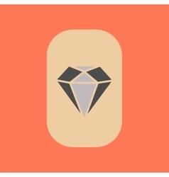 flat icon on stylish background poker diamond vector image