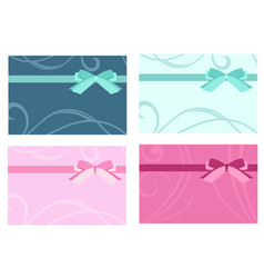 gift card template set vector image