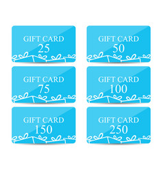 Gift card with a gift box set vector