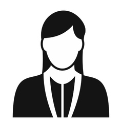 Girl avatar simple sign vector image vector image
