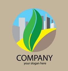 Green way city logo vector