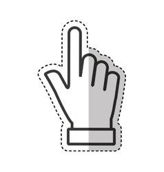 Hand human index icon vector