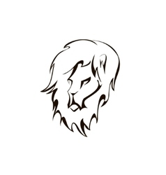 Lion head company logo design vector