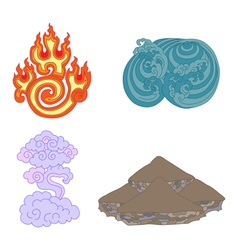 oriental symbols of elements vector image