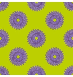 Purple flovers abstract seamless pattern vector